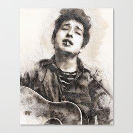 Bob Dylan portrait 01 Canvas Print