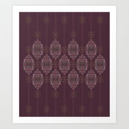 Vintage Burgundy vertical Art Print