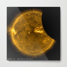 SDO Sees Solar Eclipse 2 Metal Print