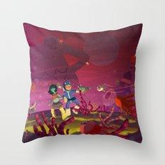 Matilda and Bouru - Alien Planet Throw Pillow