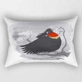 Red-Winged Blackbird Rectangular Pillow