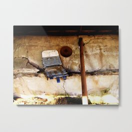 Collapsing Wall Metal Print