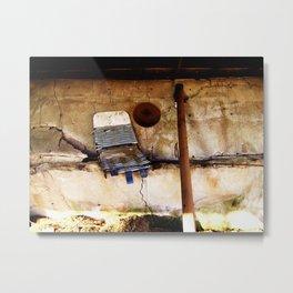 Collapsing Wall Metal Print
