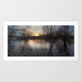 Llangorse Lake, Brecon Art Print