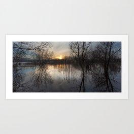 Llangorse Lake, Brecon Art Print