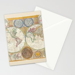 A General Map of the World - Laurie 1794 Stationery Cards
