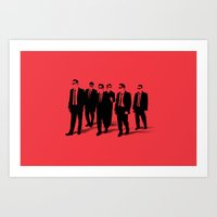 reservoir dogs Art Prints featuring Reservoir Dogs by Jason Vaughan