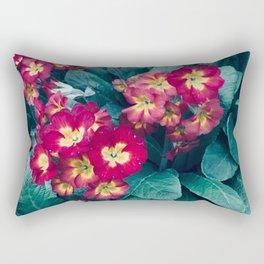 Pretty Little Red & Yellow Flowers Rectangular Pillow