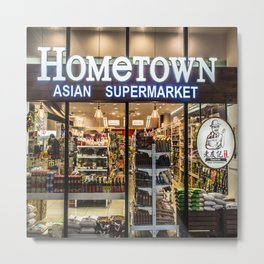 Hometown Asian Supermarket Metal Print