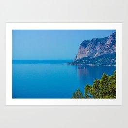 Blue Seascape Art Print