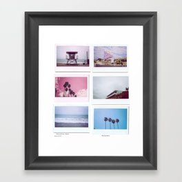 Beach Polaroids.  Framed Art Print