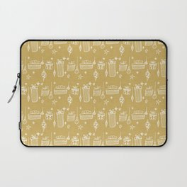 Christmas gift and ornaments Beige and White Laptop Sleeve