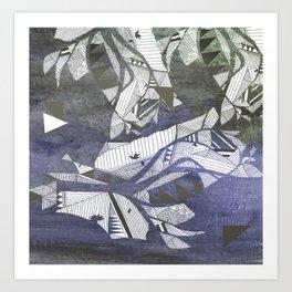 wind geometry Art Print