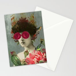 the only girl i ever loved was born with roses in her eyes. Stationery Cards