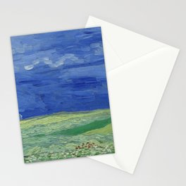 Vincent Van Gogh - Wheatfields Under Thunderclouds Stationery Cards