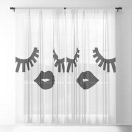Eyelashes Sheer Curtain
