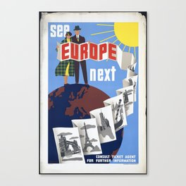 Most Beautiful Places See Europe Next Canvas Print