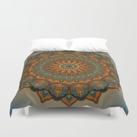 islam Duvet Covers featuring Moroccan sun by Awispa