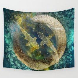 Abundance in blue Wall Tapestry
