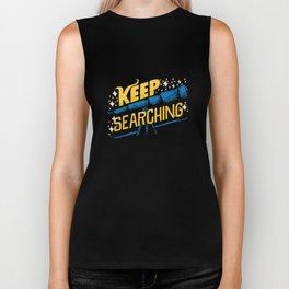 Keep Searching Telescope Astronomy Biker Tank