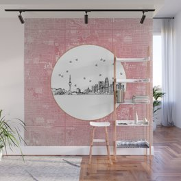 Beijing, China City Skyline Illustration Drawing Wall Mural