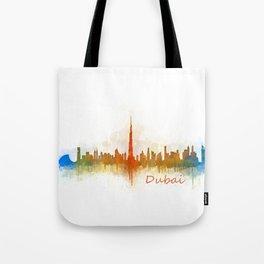 Dubai, emirates, City Cityscape Skyline watercolor art v3 Tote Bag