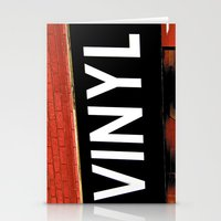 vinyl Stationery Cards featuring Vinyl by Biff Rendar