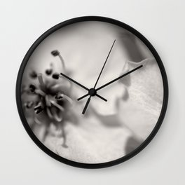 Black and White Pear Tree Bloom Wall Clock