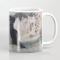 labrador Mugs featuring Black Labrador    by Simon's Photography