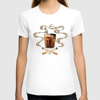 cigarettes T-shirts featuring Cigarettes and Chocolate Milk by Brittany W-Smith