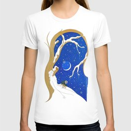 "Art Deco Design ""Winter – Season Series"" by Erté T-shirt"