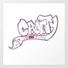 Crafty 3D Logotype Art Print
