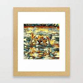 AnimalArt_Tiger_20170601_by_JAMColorsSpecial Framed Art Print