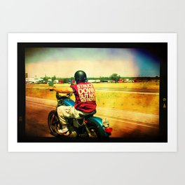 Freedom of the road Art Print