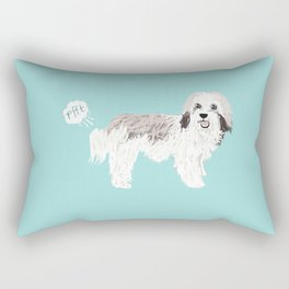 Havanese farting dog cute funny dog gifts pure breed dogs Rectangular Pillow
