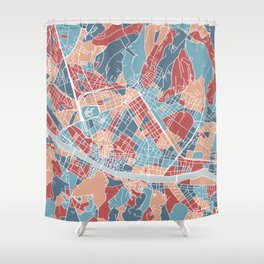 Florence map, Italy Shower Curtain