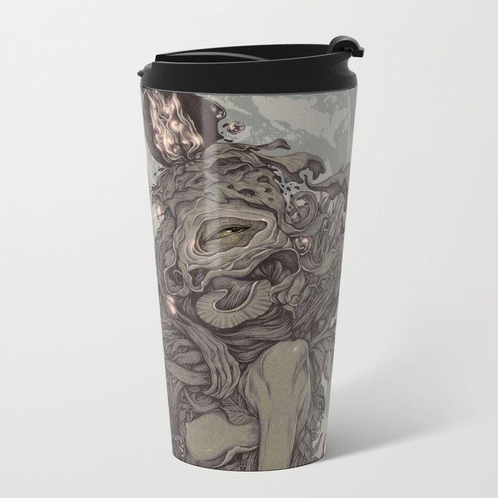 REMEMBER MIND (full moon) Metal Travel Mug