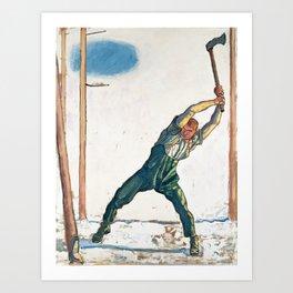 The Woodcutter by Ferdinand Hodler Art Print