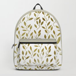 Leafy Twigs - Gold Backpack