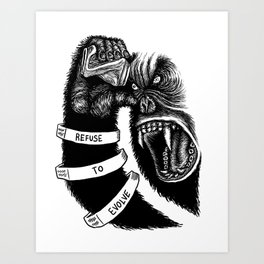Refuse To Evolve Art Print