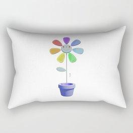 Rainbow Flower Rectangular Pillow