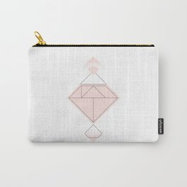 Tangram Diamond Linework Pink Carry-All Pouch