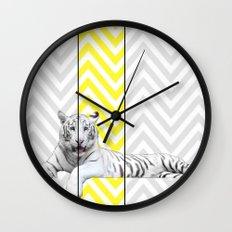 Chevron Tiger Wall Clock