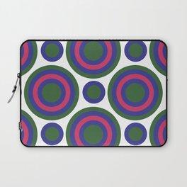 Circle Circle:  Kelly Green, Blue + Fuchsia Laptop Sleeve
