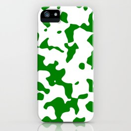 Large Spots - White and Green iPhone Case