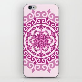 Pink Mandala on Baby Pink Background iPhone Skin