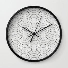 Black and white sashiko Wall Clock