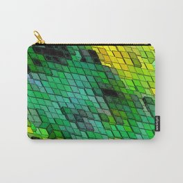 Abstract Green and Yellow Tile design Carry-All Pouch
