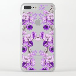 Dramatic Florals (Purple) #society6 #floral #homedecor Clear iPhone Case