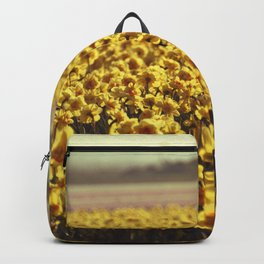 Narcissus field #2 Backpack